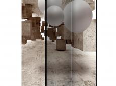 Paraván - Concrete Maze [Room Dividers]
